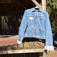 Denim Upcycled Boho Jacket