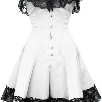 white corset dress with lace from corsets