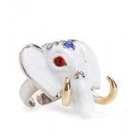CRYSTAL-EMBELLISHED ELEPHANT RING