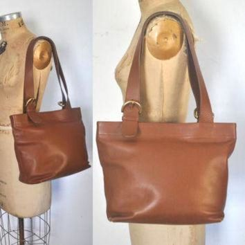 ONETOW Brown COACH Large Bag / Market Tote / British Tan Leather purse
