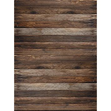 Brown Oak Planks Wood Floor Backdrop - 6877