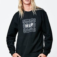 HUF Native Box Logo Crew Neck Sweatshirt - Mens Hoodie