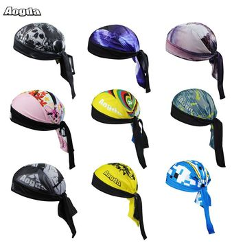 Breathable Women Mens Cycling Scarf Quick-Dry  Bike Bicycle Hat Headscarf Bandana Hood MTB Headband Skull Pirate Head Scarf