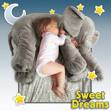 Cute Home Deco Large Stuffed Elephant Pillow Baby Toys Animals Plush Pillows Babies Pet Toy Cushions Soft Body Pets Gift Pillow