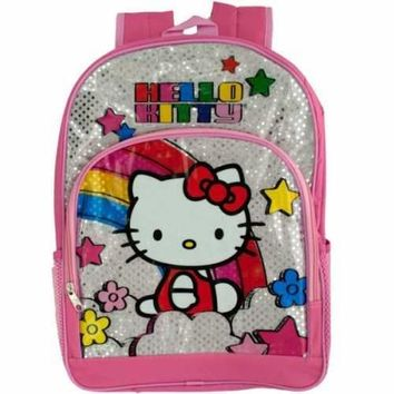 Pink & Silver Hello Kitty Rainbow Backpack (pack of 2)