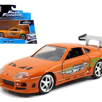 Brian\'s Toyota Supra Orange \Fast&Furious\ Movie 1:32 Diecast Model Car