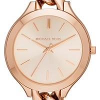 Women's Michael Kors 'Slim Runway' Chain Bracelet Watch, 42mm - Rose Gold