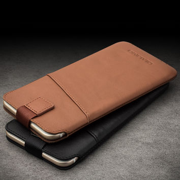 """QIALINO new arrival For iphone 6 6s 4.7 Case new case Pouch for iphone 6 plus 6s plus 5.5"""" Leather with Card Slot Luxury Case"""