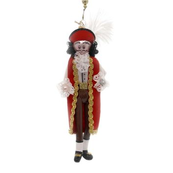 De Carlini CAPTAIN HOOK Glass Nursery Rhyme Peter Pan Italian Om4437