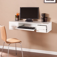 Southern Enterprises Simon Wall Mount Desk - White