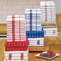 16-Pc. Cotton Kitchen Towel Sets