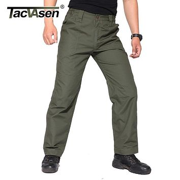 TACVASEN Men Tactical Pants Breathable Mens Cargo Pants Slim Casual Checker Pants Male Army Military Combat Trousers TD-YCXL-035