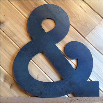 "Large 22"" Raw or Painted Metal Ampersand & by PrecisionCut on Etsy"