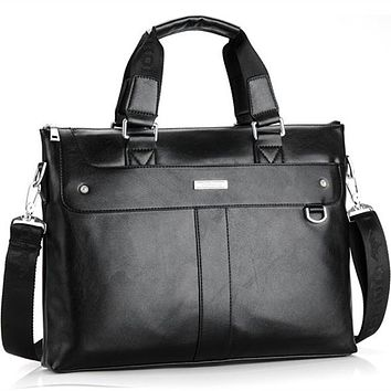 Men Casual Briefcase Business Shoulder Bag Leather Messenger Bags Computer Laptop Handbag