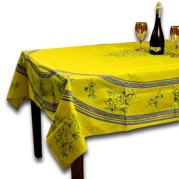 Wipeable Tablecloth 60x98 Spillproof French Acrylic Coated Clos De Oliviers