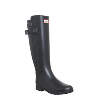 Hunter Original Refined Backstrap Black - Knee Boots