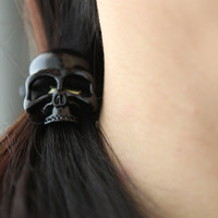 Cool BLACK Skull Hair Tie