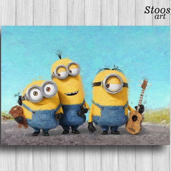 Minion poster baby nursery print kids room decor