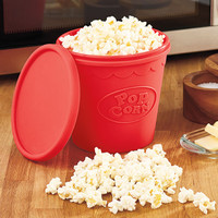 Reusable Dishwasher Safe Microwave Healthy Oil Free Popcorn Maker