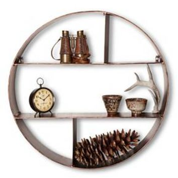 Threshold™ Metal Circle Shelf - Rubbed Bronze Fi... : Target