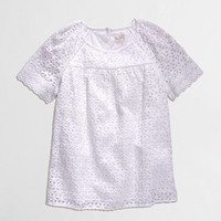 FACTORY FLORAL EYELET TOP