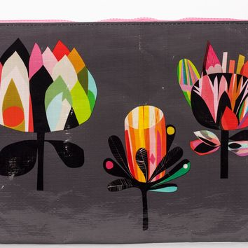 Botanical Jumbo Zipper Pouch in Recycled Material