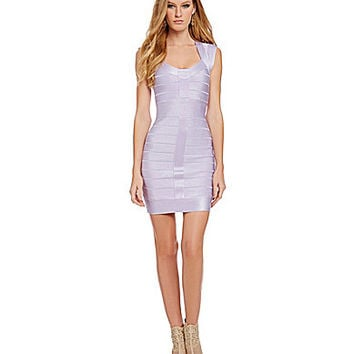 French Connection Miami Spotlight Fitted Bandage-Knit Dress
