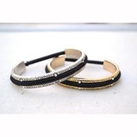 Hair-Tie Bracelet Silver Or Gold