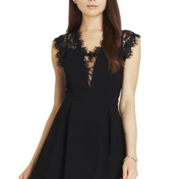 Lace-Trim Dress in Black - BCBGeneration