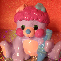 Popples Penny Bank Collectable figure from the 80s Excellent condition so Kawaii 80s girls has a fuzzy tail too