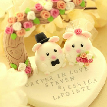 cute mouse / rat and mice Wedding Cake Topper