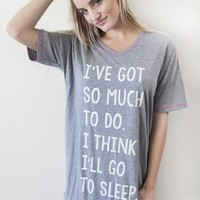 P.J. Salvage Sleep Night Shirt - Grey