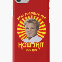 'Gordon Ramsay -You Surprise Me..' iPhone Case/Skin by kurticide