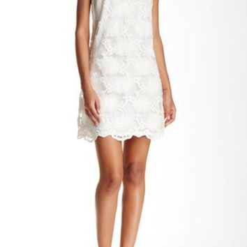 CeCe by Cynthia Steffe | Arlington Scalloped Shift Dress