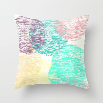 Cosy Circles || 2 Throw Pillow by bitart