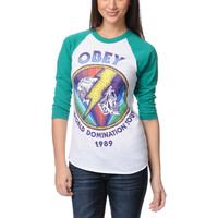 Obey World Domination Tour Baseball Tee Shirt at Zumiez : PDP