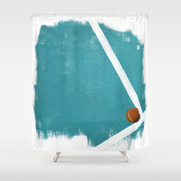 Tennis Shower Curtain by Matt Irving