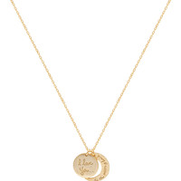 I Love You To The Moon + Back Necklace - One Size / Gold