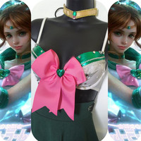 Sailor Jupiter Outfit- Rave wear, rave bra, edm, edc, festival, rave, halloween, costume
