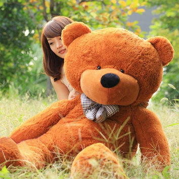 "Stuffed Giant 100cm Plush Teddy Bear Huge Soft Cotton Toy Dark Brown 40"" = 1697286916"