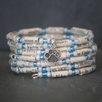 A Dog's Purpose Book Page Charm Bracelet