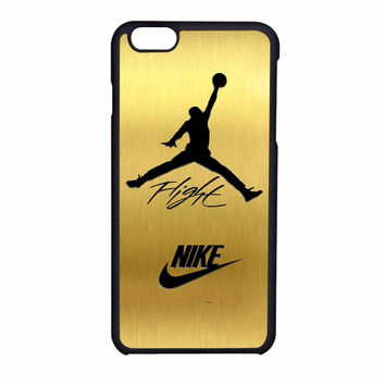 Nike Jordan Flight Jump In Gold Texture iPhone 6 Case