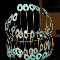 Modern Table Top Wire Sculpture by Artist David Jones - Ultra Cool - Ultra Mod