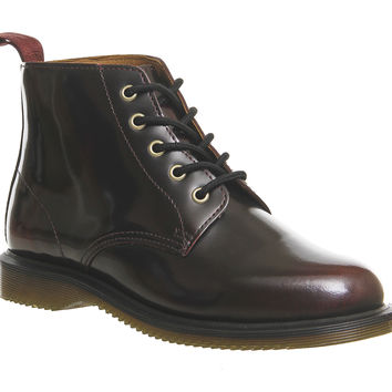 Dr. Martens Emmeline Lace Up Boots Cherry Red - Ankle Boots