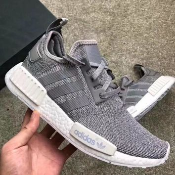 """Adidas"" Fashion Women Men Casual Running Sports Shoes Sneakers Grey White I"