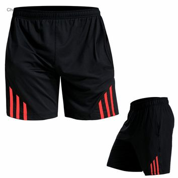 Men Running Shorts Black Stitching Basketball Tight Jerseys Quick Dry Yoga Sportswear Elastic Gym Clothes Gray/Red / Green/White