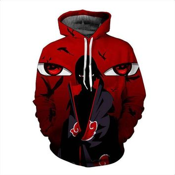 2017 New Japanese Anime Naruto 3D Printed Hoodie Sweatshirts Ninja Way Hoodies Men Long Sleeve Outerwear Pullovers Plus Size 4XL