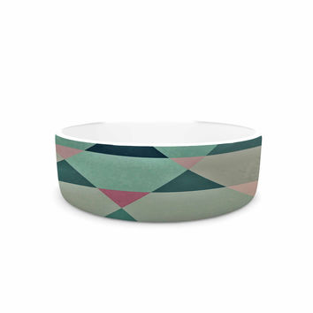 "Nika Martinez ""Hipster"" Maroon Teal Pet Bowl"