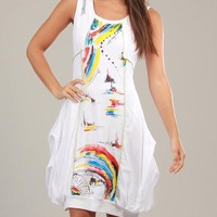 Chic Dressing Lena 100 % Cotton Multicolor Dress - Chic Dressing for Her - Modnique.com
