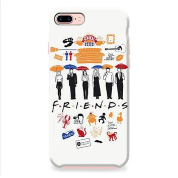 FRIENDS Collage Drawing iPhone 8 | iPhone 8 Plus Case